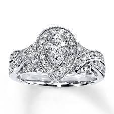 glamorous neil lane rings at kays jewelers kay diamond engagement ring 1 ct tw pear shape 14k white gold