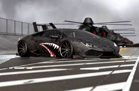 Lamborghini Huracan Gold - lamborghini huracan black matte a fighter plane by liberty walk