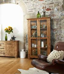 rustic wood display cabinet country reclaimed solid wood farmhouse glass display cabinet