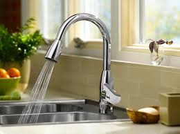 kitchen faucets with sprayer in head kitchen premium kitchen faucet chrome 1 handle corrosion and