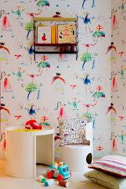 Great Wallpaper Looks Like Bright And Happy Kids Drawings Kids - Kid room wallpaper