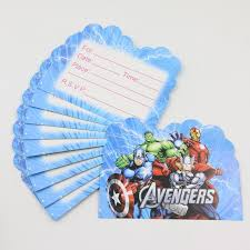10pcs lot teenage favor movie marvel u0027s the avengers theme kids
