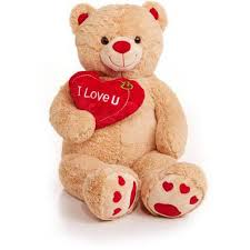valentines bears jumbo valentines teddy with i you heart brown teddy