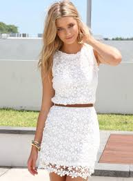 white summer dresses stunning white lace summer dress 2014