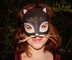 animal mask templates print play meow cat template diy
