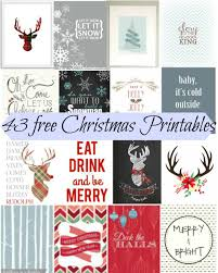 43 free christmas printables holiday crafts pinterest free