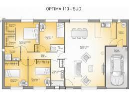 plan de maison de plain pied 3 chambres plans de maison modèle optima maison traditionnelle de plain