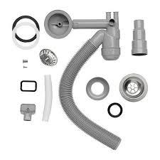 Ikea Atlant Single Kitchen Sink Plumbing Kit Stainless Steel Waste - Kitchen sink plumbing kit