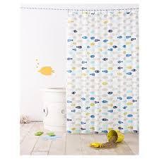 Baby Bathroom Shower Curtains by Fish Shower Curtain Calm Gray Pillowfort Target Baños
