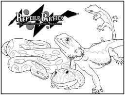 Coloring Page Reptile Parties By Single Serval On Deviantart Reptile Coloring Pages