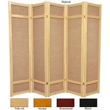 handmade wood handmade wood and jute 6 foot 5 panel room divider china free
