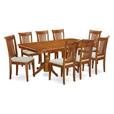 east west furniture dover 9 piece extension rectangular dining
