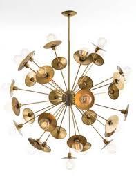 18 Light Starburst Chandelier Antique Brass Starburst Chandelier Residential Lighting