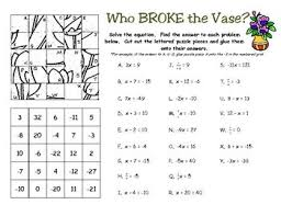 solving one and two step equations worksheet worksheets