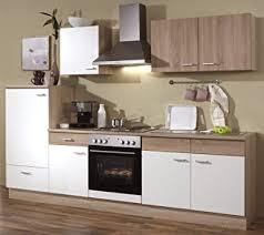 komplett küche küchenzeile 270 cm komplett küche mit kühlschrank herd backofen