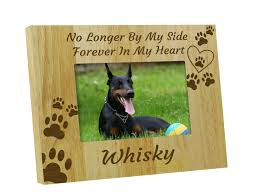 dog memorial engraved wood dog memorial picture photo frame forever in my heart