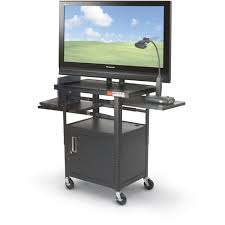 multimedia cart with locking cabinet mooreco height adjustable flat panel cart with locking media cabinet