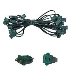 outdoor sockets for christmas lights 25 ft c7 christmas light stringer indoor outdoor lighting patio 25