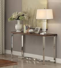 coaster 705079 sofa table dark brown chrome 705079 at homelement com