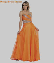 orange prom evening dress several new colors gossip style