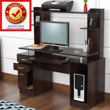 Computer Workstation Desk Credenza Computer Workstation Hutch Desk Furniture Office Vintage