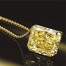 yellow diamond pendant necklace images Cut cornered rectangular modified brilliant cut diamond alain r jpg