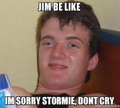 Jim Meme - jim be like im sorry stormie dont cry 10 guy make a meme