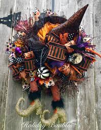 Halloween Mesh Wreaths by Wicked Witch By Holiday Baubles Deco Mesh Wreaths Pinterest