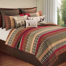 hillside rustic plaid quilt bedding