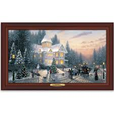 amazon com wall decor thomas kinkade victorian christmas wall