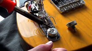 how to replace a fender telecaster cts volume or tone pot for