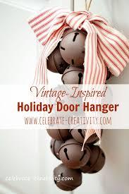 vintage inspired holiday door hanger using jumbo jingle bells