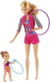amazon barbie gymnastic coach dolls u0026 playset toys u0026 games