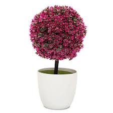 artificial trees pvc ball shape potted home garden mini tree