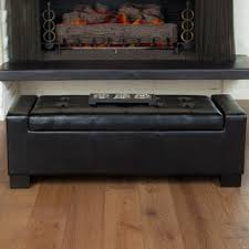 36 X 36 Storage Ottoman Adeco Bonded Rectangular Black 36 X 20 Inch Leather Storage