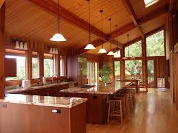 pan abode cedar homes custom cedar homes and cabin kits designed post and bean kitchen