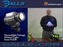 streamlight firefighter helmet light streamlight vantage helmet light at galls fl820 youtube