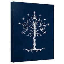 the lord of the rings tree of gondor canvas wall wb shop