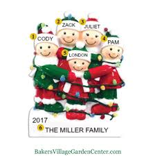 personalized ornaments tangled lights family of 5