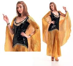 Egyptian Queen Halloween Costume Ensen Cleopatra Ancient Egypt Queen Long Golden Dress Carnival