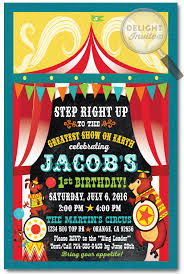 retro circus carnival birthday invitations di 393 ministry