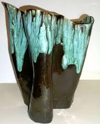 Studio Pottery Vase Oil Slick Drip Glaze Studio Pottery Vase Bill Ferg Collectors