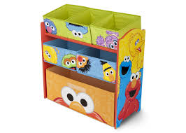 furniture wooden toy organizer with bins in natural finish for
