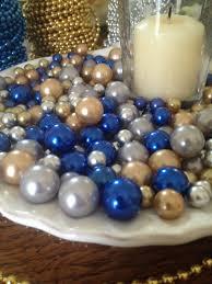 pearl vase fillers 265 pcs pearl bead vase fillers royal blue gold silver