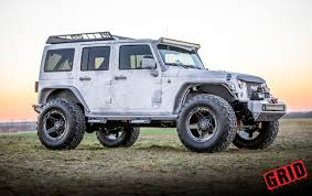 graphite jeep wrangler grid off road vehicle