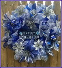 hanukkah sale hanukkah wreath happy hanukkah wreath blue and silver wreath