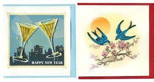 happy new year paper cards happy new year theme handmade greeting cards for sale in paper