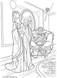 brave king fergus queen elinor brave movie coloring