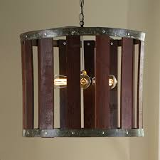 Wine Barrel Home Decor Barrel Stave Chandelier Wine Enthusiast