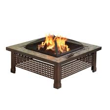 Can I Have A Fire Pit In My Backyard by Pleasant Hearth Bradford 34 In Square Slate Fire Pit Ofw104sc